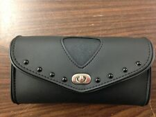 MOTORCYCLE PVC WIND SHIELD BAG WITH BLACK STUDS FOR HARLEY DAVIDSON