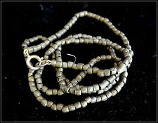 Vintage West African Authentic Tribal Bronze Beads Strung Sterling Silver Clasp