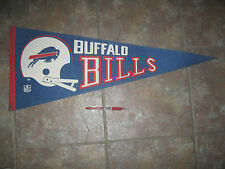 "1970's BUFFALO BILLS football pennant Full Size 30""x12"" - owned by Celebrity"