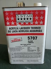 AUTOMOTIVE AUTO BODY SHOP PAINT ACRYLIC LACQUER THINNER SLOW 5 STAR 5707