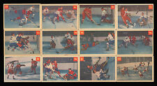 1954-55 PARKHURST HOCKEY ACTION ~ COMPLETE SET (89-100)