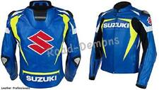 SUZUKI GSXR ORIGINAL MOTORCYCLE MOTORBIKE BIKER CE ARMOURED LEATHER COAT JACKETS