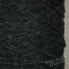 RENNIES PURE SHETLAND WOOL 4 PLY CHARCOAL GREY 500g CONE 10 BALL KNIT WEAVE YARN