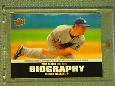 2010 UPPER DECK   BIOGRAPHY   CLAYTON KERSHAW #SB-49 (SP) MINT! 1st Ballot HOF!