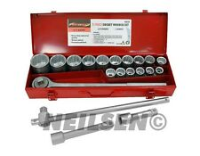 "21Pc Socket Tool Ratchet Extension Set 3/4"" inch Drive Large Jumbo Sizes Garage"