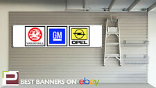 GM Motorsport Workshop Garage Banner Vauxhall, Cavalier, Opel Manta, GTE, SRI