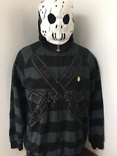 LIFTED RESEARCH GROUP LRG men's Large Jason Mask Full Zip Up Jacket *RARE*
