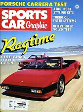 SPORTS CAR GRAPHIC MAGAZINE JULY 1984 PORSCHE CARRERA TEST
