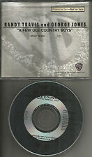 RANDY TRAVIS & GEORGE JONES A few Ole Country Boys 1990 PROMO Radio DJ CD single