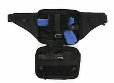 Black Tactical Pistol Concealment Fanny Pack - CCW Concealed Carry Gun Pouch 02