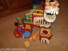 FISHER PRICE IMAGINEXT RETIRED CAVEMAN DINOSAURS MOUNTAIN DINOLAND PLAYSET LOT