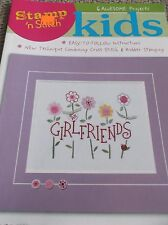 STAMP N STITCH KIDS EASY CROSS STITCH & RUBBER STAMPING PROJECTS EASY 6 PATTERNS