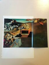 "1976 Vintage SALVADOR DALI ""INVENTIONS OF THE MONSTERS"" COLOR Print Lithograph"