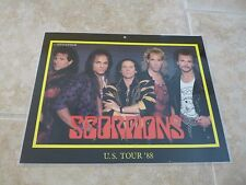 THE Scorpions Band 8.5x11 1988 Brockum Cards Promo Store Display Laminated Photo