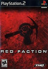 NEW SEALED Red Faction PS2 Video Game weapons battle warfare revloution destroy
