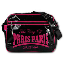Robin Ruth Borsa a tracolla The City of Parigi Plastica, PVC nero OTG101P