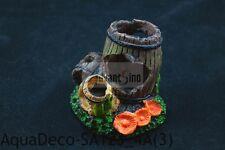 "(A) Beautiful Small 3"" Resin Broken Barrel Decoration/ Ornament (SHIP FROM USA)"