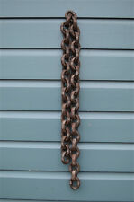 VINTAGE INDUSTRIAL 1 METRE LENGTH OF CHUNKY RUSTY IRON CHAIN HANGING CHAIN