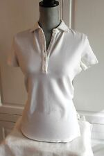 LORO PIANA NWT Women's White Polo in Cotton Pique IT 46 / US 12