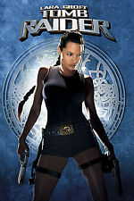 "Lara Croft Tomb Raider Movie Silk Fabric Poster 11""x17"" Angelina Jolie"
