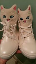 IRREGULAR CAT FACE SHOES FLAT HEELS SIZE 4 OR SMALL 5 CELEBS CHOICE