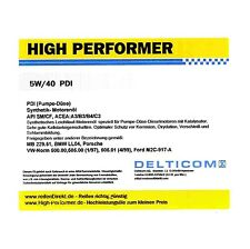 High Performer 5W-40 PDI Motoröl 20 Liter ACEA A3/B4/C3 BMW MB Ford VW Diesel DP