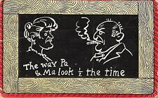 POSTCARD  COMIC    The  way Pa and  Ma look 1/2  the time