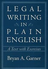 Legal Writing in Plain English: A Text with Exercises (Chicago Guides -ExLibrary