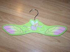 Kidorable Green Fairy Pixie Wooden Painted Clothes Coat Hanger Girls Closet EUC