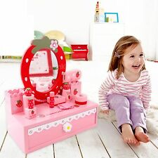 Make Up Set Mother Garden Toys Dressing Table & Mirror Pretend Play Wooden Toys