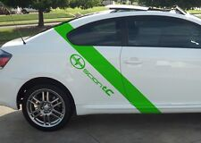 Scion tC Decal Graphics Set Of (2) Racing Side Stripes With Scion TC Logo