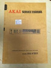 Service Manual for the Akai AA-V201 Audio Video Receiver        mp