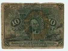Ten Cent 10c Fractional Note Second Issue  FR #1244 Low Grade     m33