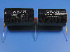 2pcs For WEAH 250V 15uF MKP Crossover Polypropylene Non-Polarity Capacitor