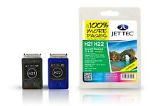 H21+H22 JETTEC REMAN INK CARTRIDGES DESKJET 3910,3915,3920,3930,3940,D1360,D1460