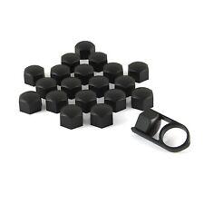 Set 20 19mm black car caps couvre boulons écrous de roue pour Seat Leon Mk1 Mk2 Mk3