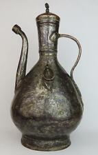 OTTOMAN TURKISH Antique HOLY WATER TINNED COPPER EWER 18th / 19th Century