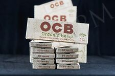 10 PACKS AUTHENTIC OCB ORGANIC HEMP 1 1/4 PAPERS NATURAL UNBLEACHED