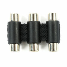 NEW 3 RCA Component Video Cable Joiner Coupler Adapter Female to Female RGB AV