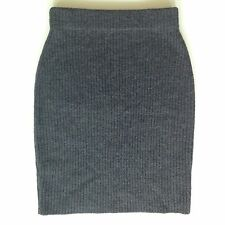 J. Crew Wool Medium Charcoal Grey Knit Sweater Pencil Skirt