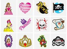 24 Childrens Pirate & Princess Temporary Tattoos Party Bag Filler Kids Prize Toy