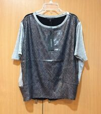 NWT Women Boundary & Co Knitted Sequin Top Tee Shirt Pullover Blouse XS(S/M)