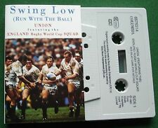 Union ft England Rugby World Cup Squad Swing Low Cassette Tape Single - TESTED