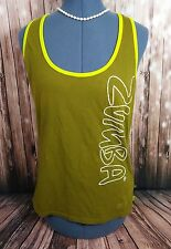 Zumba Wear tank top with cross back green size XL