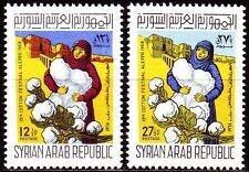 Syrien Syria 1968 ** Mi.1029/30 Baumwolle Cotton Aleppo Zitadelle [sy104]