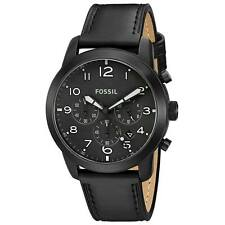 Fossil FS5157 Gent's Pilot 54 Black Dial Chrono Black Band Watch