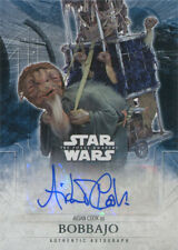 Star Wars the Force Awakens Series 2 Autograph Card Aidan Cook as Bobbajo