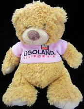 Legoland Lego Tan Bear Plush  Soft Toy Stuffed Pin T-shirt Animal 10""