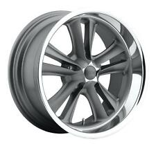 "CPP Foose F099 Knuckle Wheels Rims, 17x7 front + 17x8 rear, 5x4.75"", GRAY"