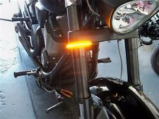 Razor 39mm Fork LED Turn Signal Light Bars for HD Sportster & Dyna - Clear Lens